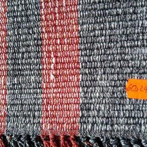 vzor nite sivý s bordó pruhmi – šírka 60cm