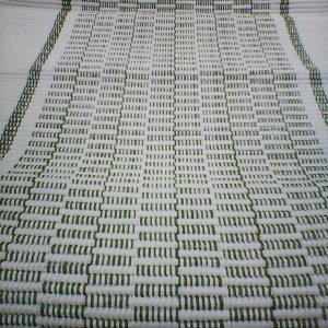bielozelená štóla vzor nite- šírka 40cm
