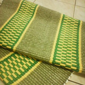 Vzor nite zelený so žltými pruhmi – šírka 60cm