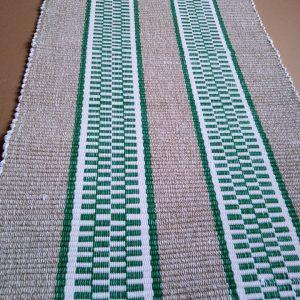 vzor nite sv.zelený so zelenými pruhmi – šírka 70cm