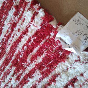 Strapatý červeno krémový – šírka 70cm