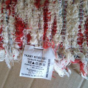 strapaté  krémovočervené – šírka 70cm