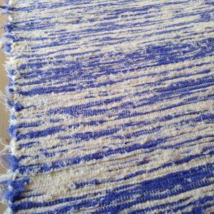 strapatý krémovo fialový – šírka 70cm