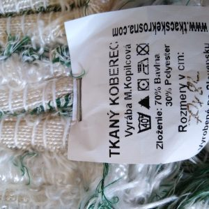 strapatý bielozelený – šírka 70cm