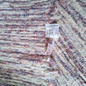 strapatý krémovo tehlovo-modrý – šírka 70cm