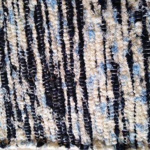 strapatý krémovo – modrý – šírka 60cm