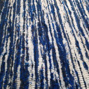 Strapatý modrobiely – šírka 100cm
