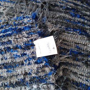 Strapatý svetlý+tmavosivo modrý – šírka 100cm