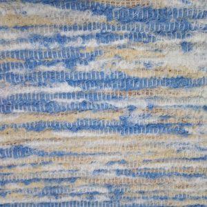 strapatý bielo krémovo modrý š.60