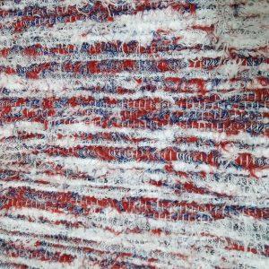 strapatý krémovo červeno modrý š.60
