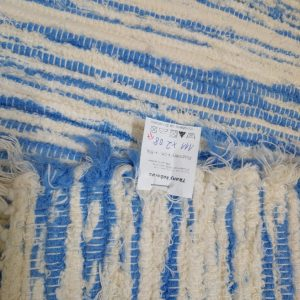 strapatý krémovo modrý š.110