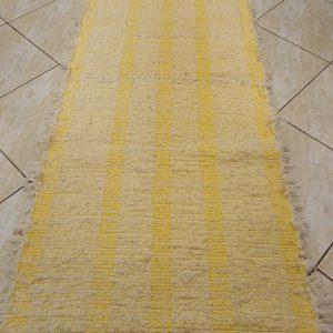 vzor žlté pruhy na obj.  š.60 cm, zatkávané pucvolou krémovou