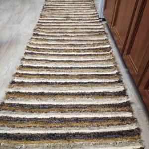 strapatý hnedý prúžkovaný š.70 cm