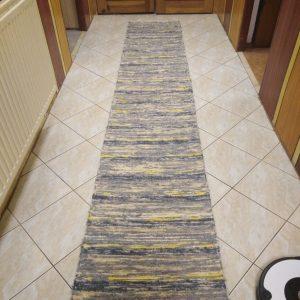 strapatý sivo-žltý š.60 cm
