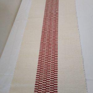 bielo-bordová štóla, vzor nite š. 40 cm