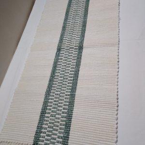 bielo-tmavozelená štóla, vzor nite š. 40 cm