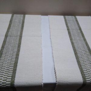 bielo-strednezelená štóla, vzor nite š. 40 cm