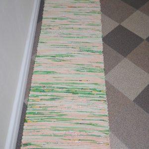 látkový zeleno – oranžový š. 50 cm